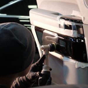 Полировка салона Range Rover