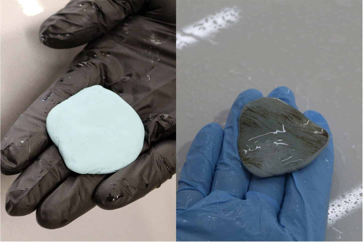Пластилин до и после использования
