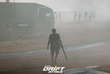 Дым на соревнованиях по дрифтингу