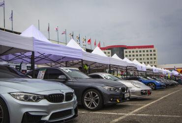 Выставка машин на соревнованиях