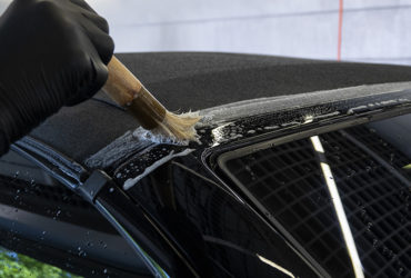 чистка тканевой крыши автомобиля BMW
