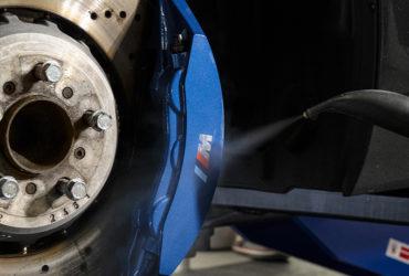 синий суппорт BMW