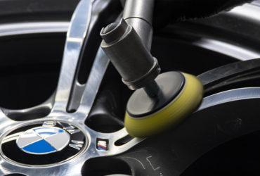 полировка дисков BMW крупным планом