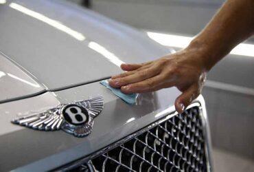 чистка кузова пластилином Bentley Bentayga