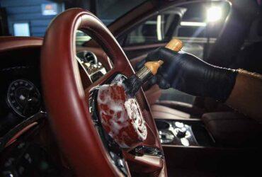 чистка руля в автомобиле