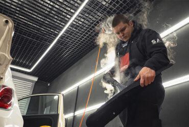 термостойкая насадка для обработки автомобильного салона паром